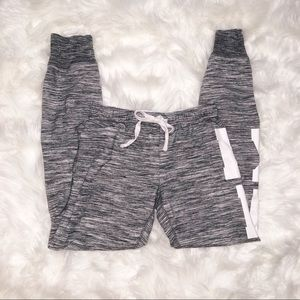 VS PINK Gray and White Skinny Joggers